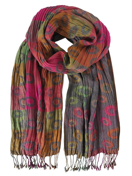 Silk Scarf - Planet Cosmos Mix by Artisan Route