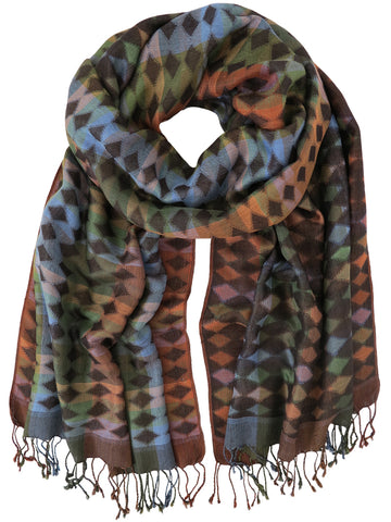 Silk Scarf - Rhombus by Artisan Route