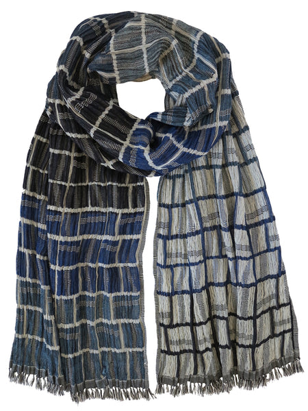 Silk Scarf - Squire Blue Mix by Artisan Route
