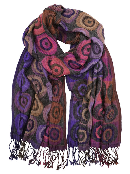 Silk Scarf - Target Purple by Artisan Route