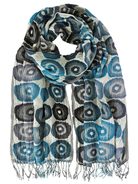 Silk Scarf - Target Teal by Artisan Route