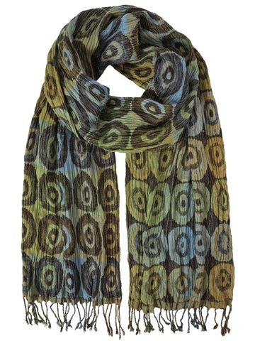 Silk Scarf - Target Yellow by Artisan Route