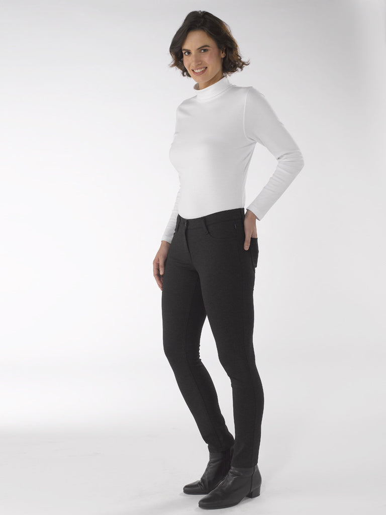 Ladies Trousers - Zita in Charcoal at Artisan Route