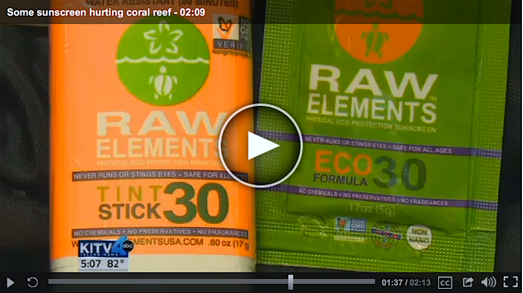 Hawaii Introduces Oxybenzone Ban - Raw Elements Featured On Hawaiian News TV