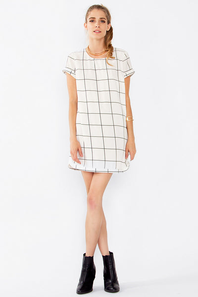 Grid Streak Dress