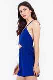 Cobalt Cross Romper