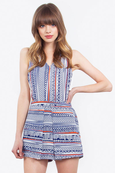 Aztec in Check Romper