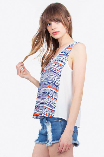 Aztec in Check Top