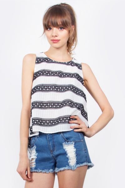 Sunburst Stripe Top