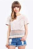 Jessie Suede Top
