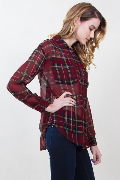 Plaid World Top