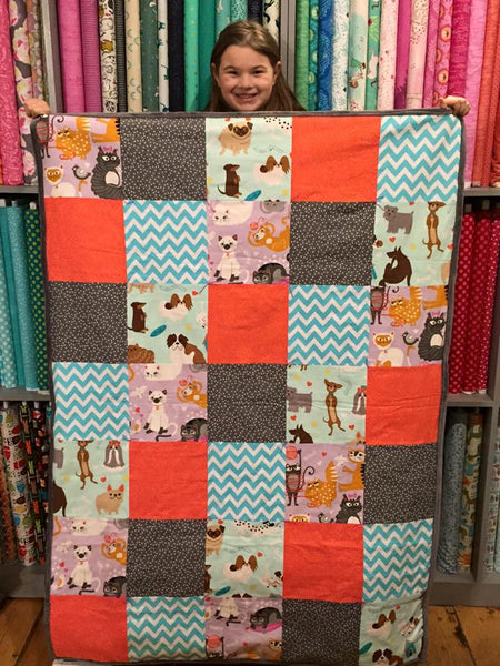 Learn To Quilt Series  (Kid or Tween Advanced Beginner)