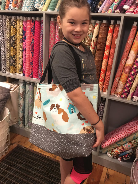 Intro to Machine Sewing: Everything Tote (Kid or Tween Beginner)