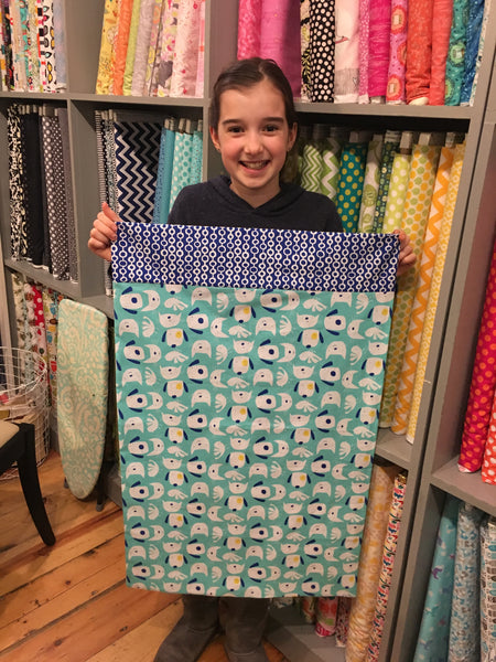Intro to Machine Sewing:  Pillowcase (Kid or Tween Beginner)