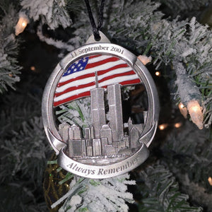 Commemorative 9/11 Rememberance Pewter Ornament - Limited Edition