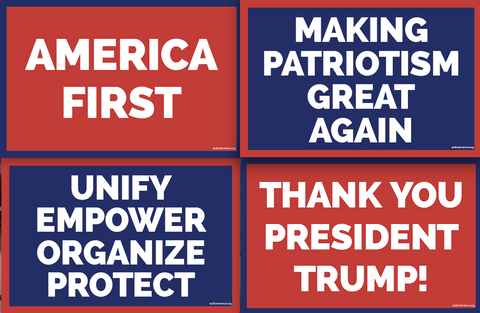 ACT for America Rally Placards - Pack of 4