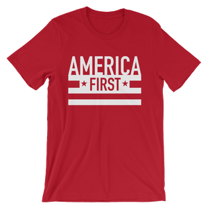 """America First"" Stripes T-Shirt"