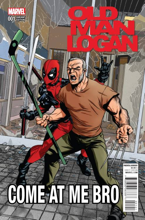 OLD MAN LOGAN #1 MCKONE DEADPOOL VAR