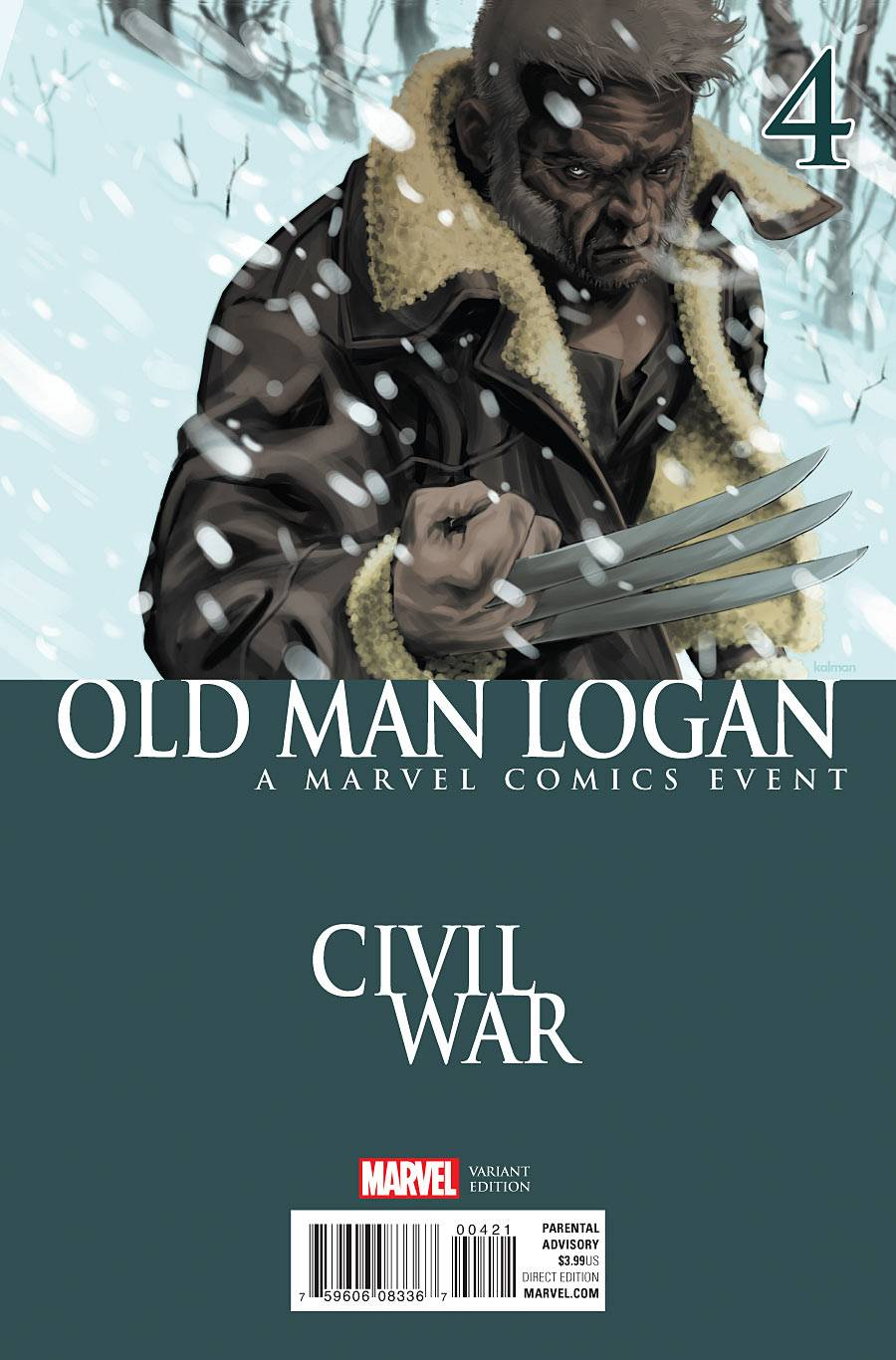 OLD MAN LOGAN #4 ANDRASOFSZKY CIVIL WAR VAR