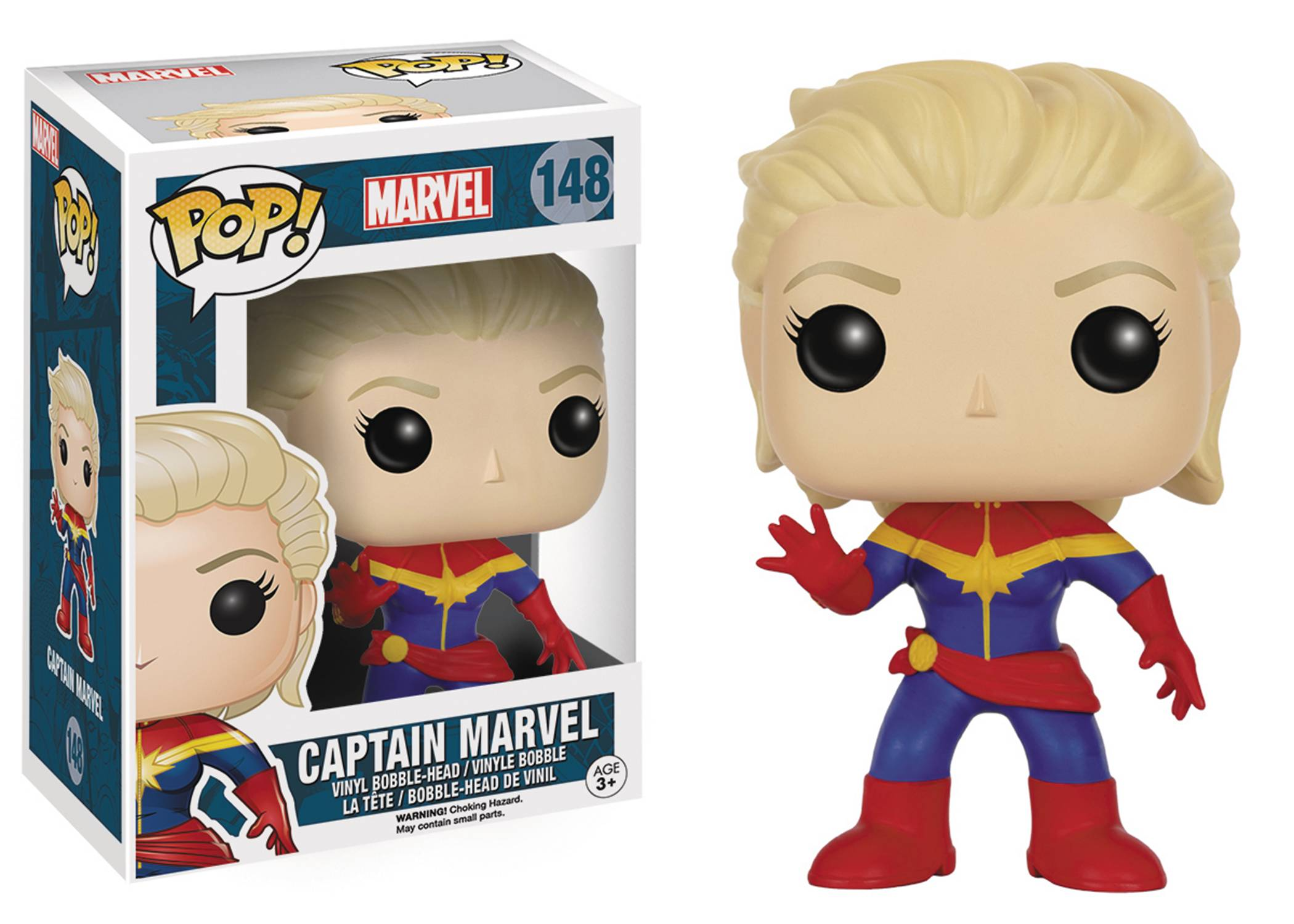 POP MARVEL CAPTAIN MARVEL UNMASKED VINYL FIG