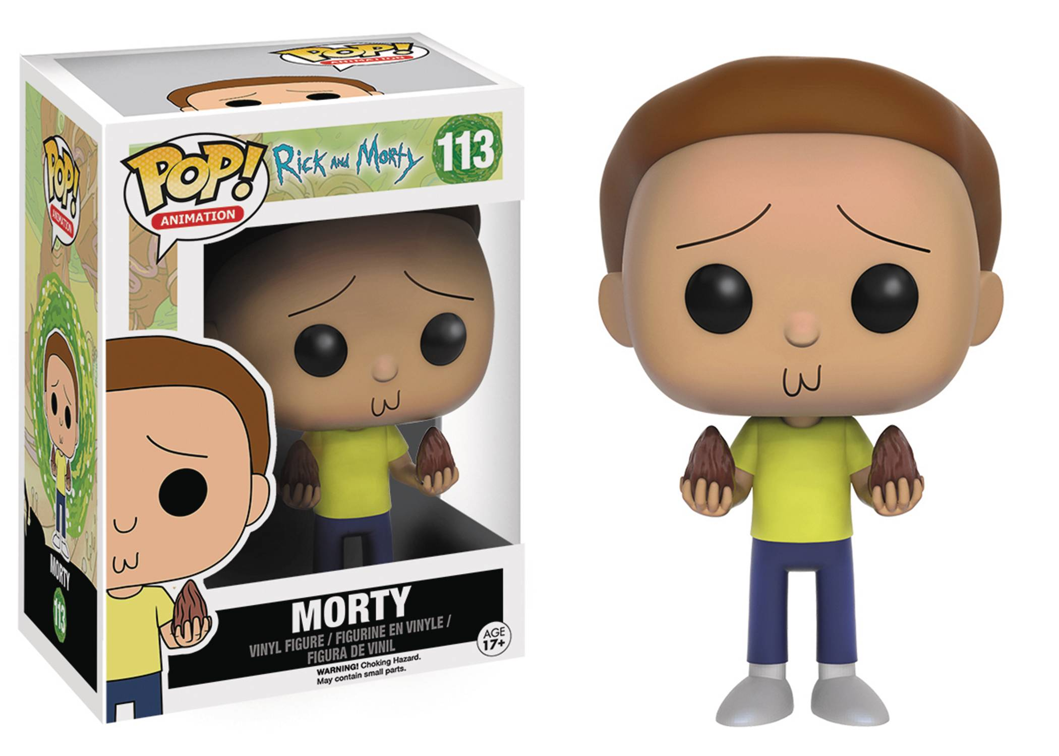 POP ANIMATION RICK & MORTY MORTY VINYL FIG