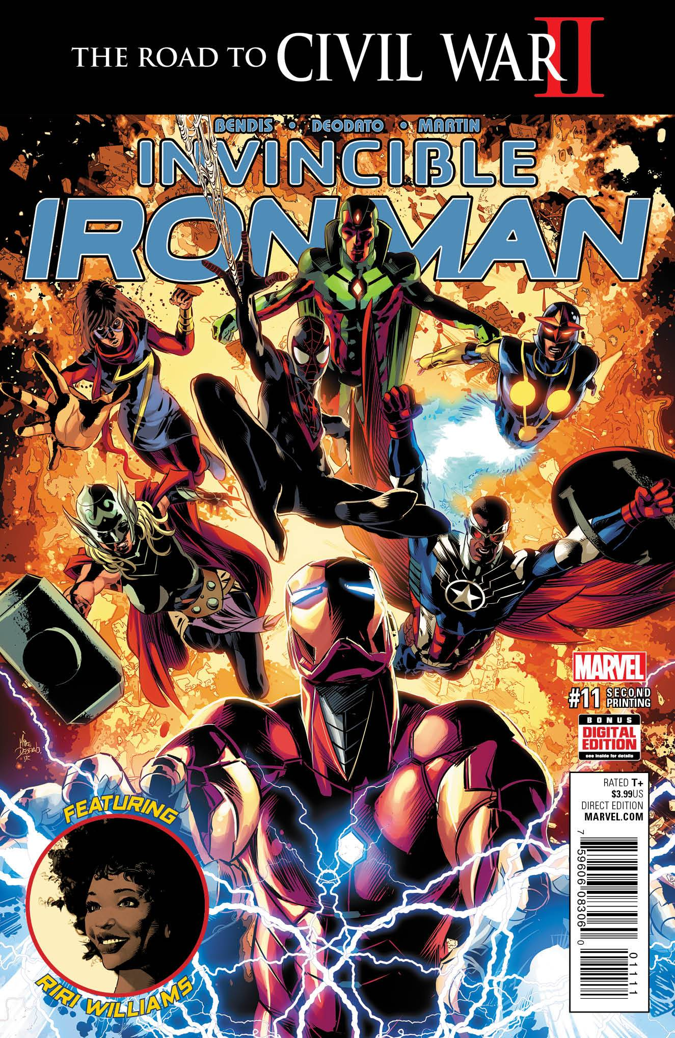 INVINCIBLE IRON MAN #11 DEODATO 2ND PTG VAR