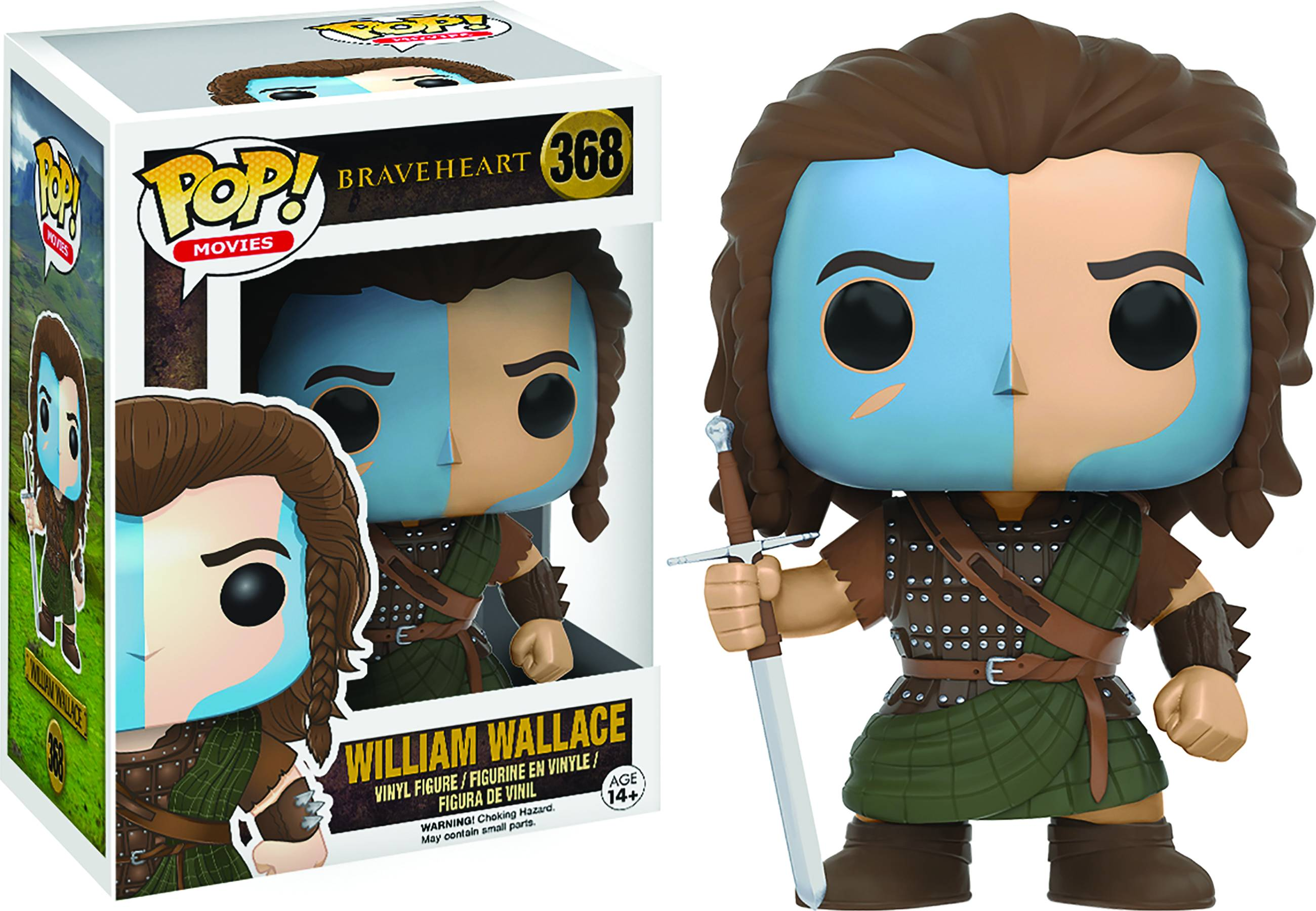 POP BRAVEHEART WILLIAM WALLACE VINYL FIG