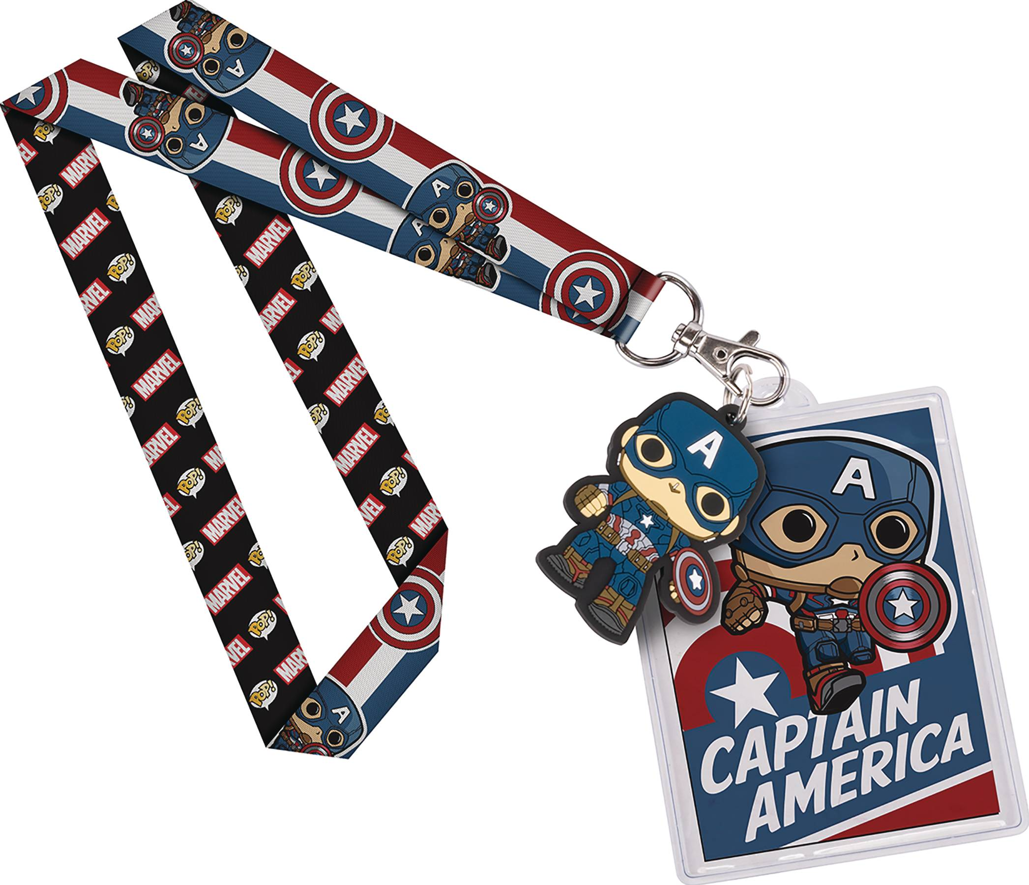 POP MARVEL CAPTAIN AMERICA LANYARD