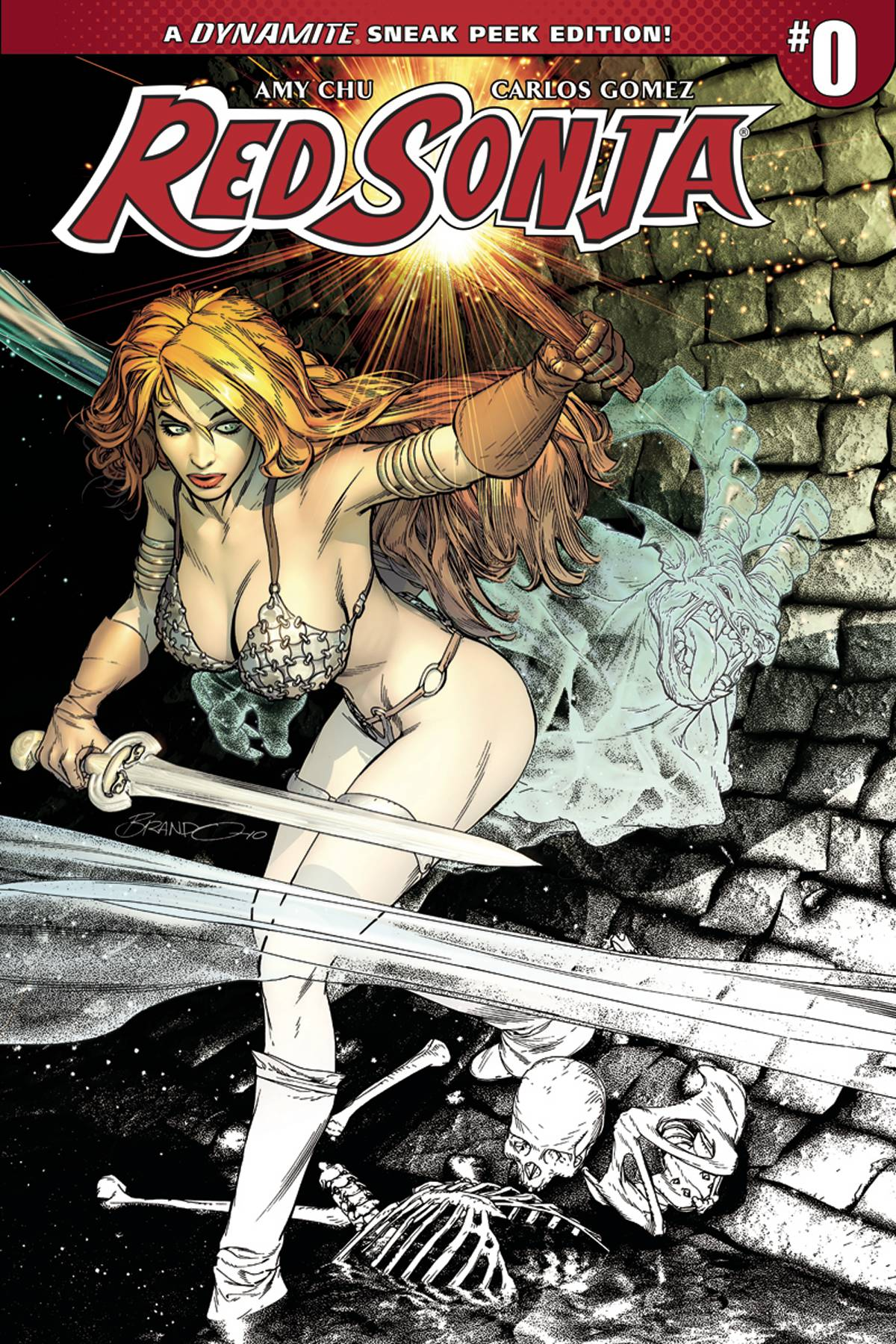 RED SONJA #0 CVR B 50 COPY PETERSON SNEAK PEEK INCV