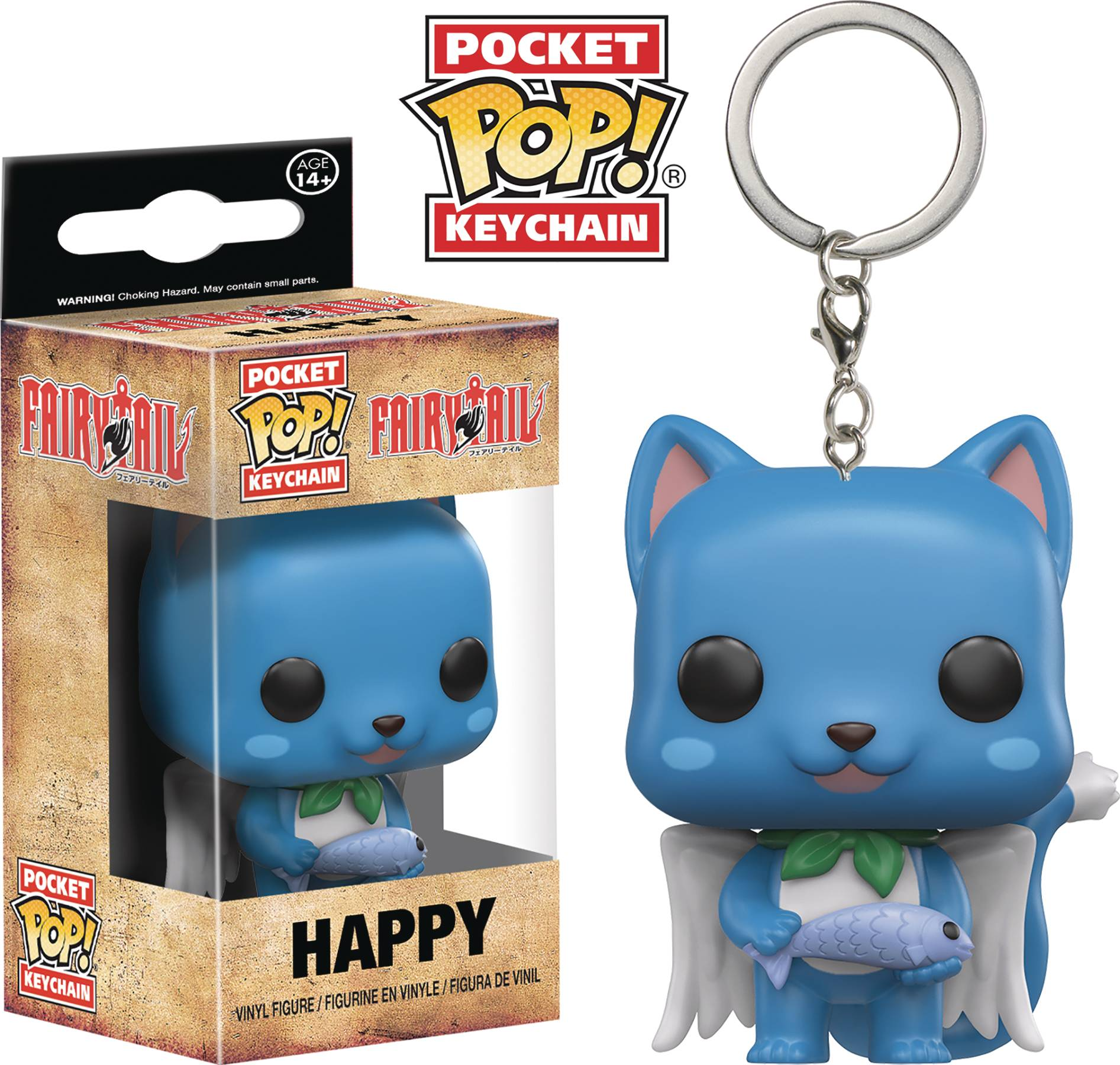 POCKET POP FAIRY TAIL HAPPY VIN FIG KEYCHAIN