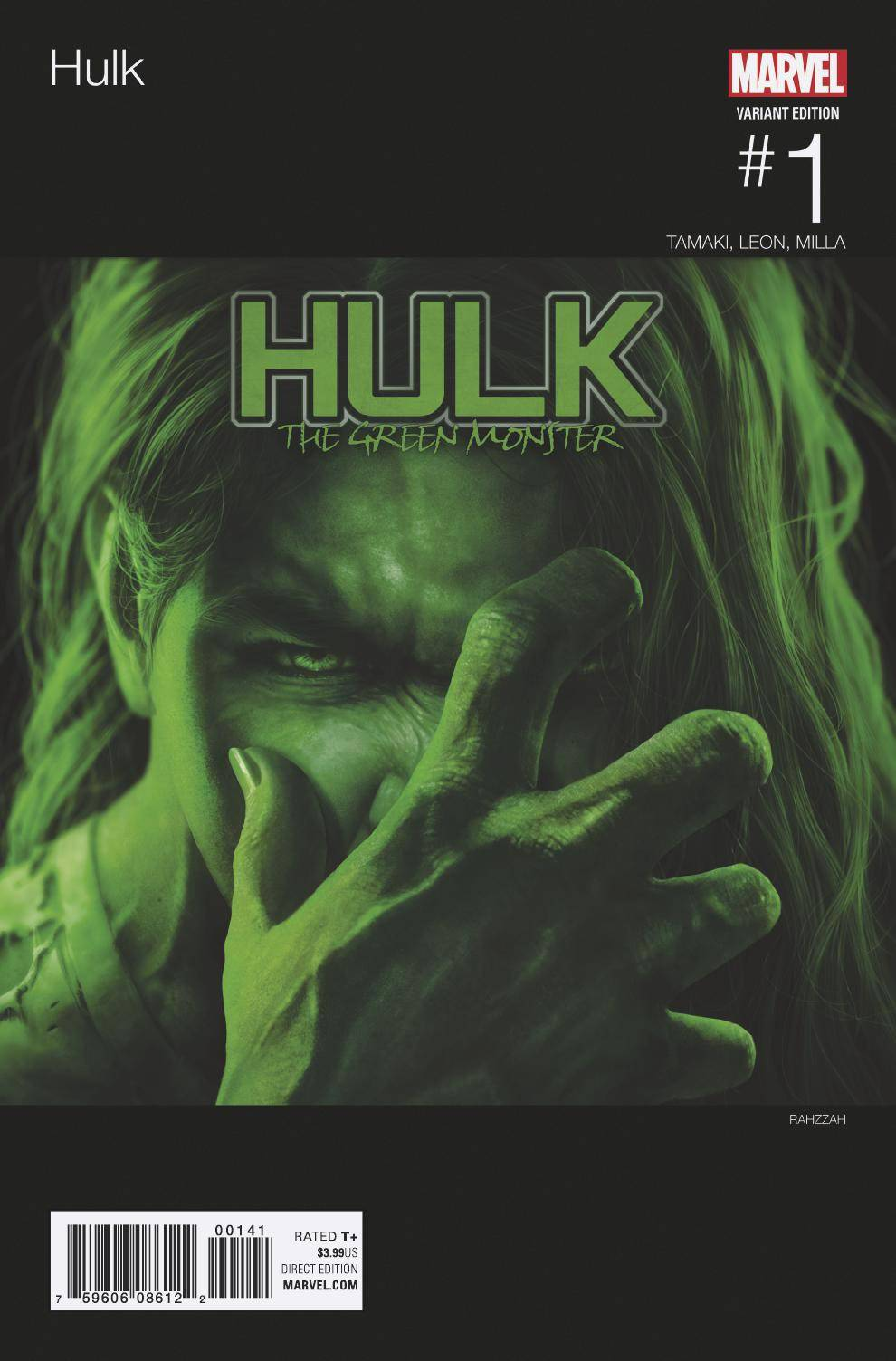HULK #1 RAHZZAH HIP HOP VAR NOW