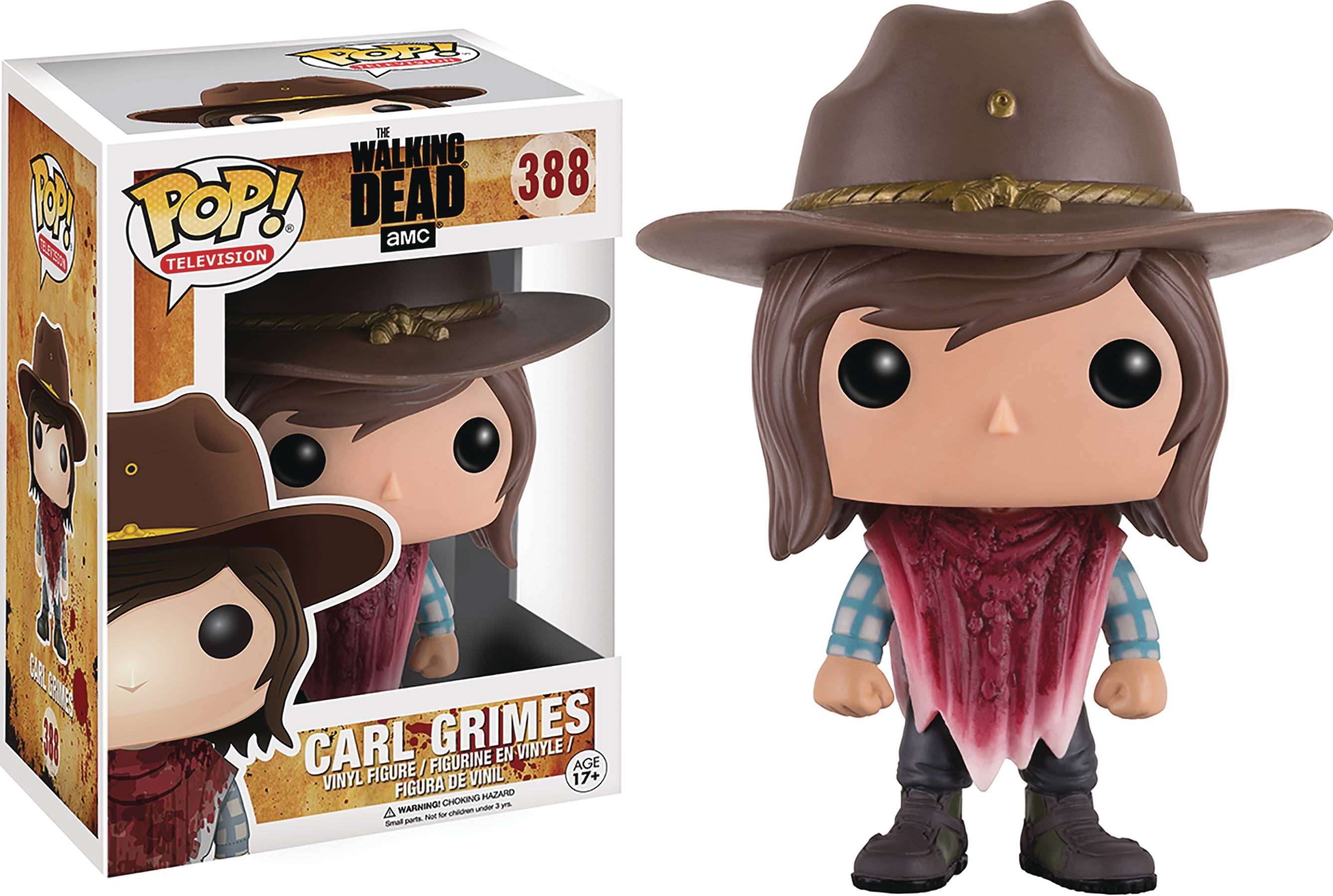 POP WALKING DEAD CARL VINYL FIG ZOMBIE GUTS VER