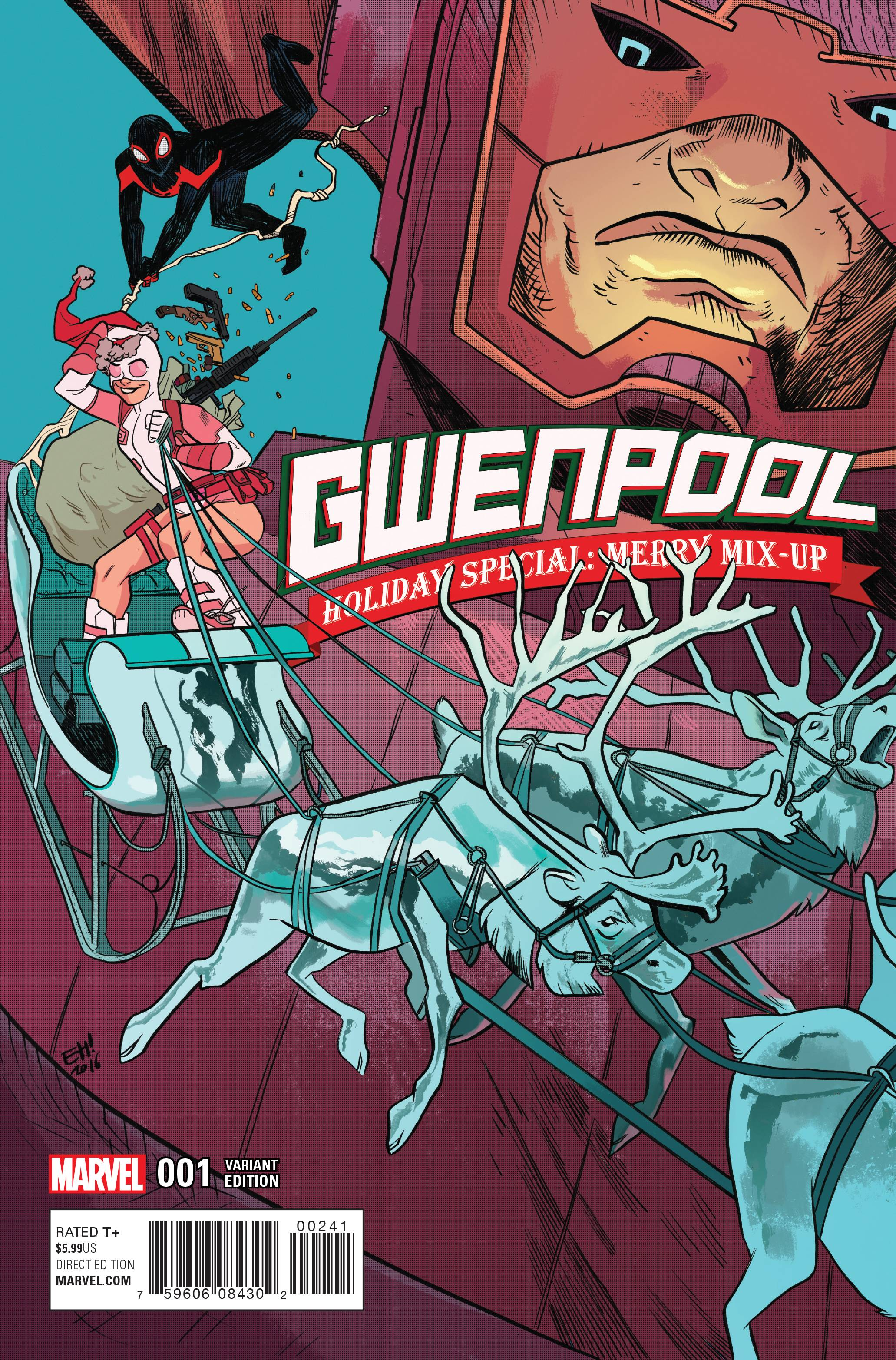 GWENPOOL HOLIDAY SPECIAL MERRY MIX UP HENDERSON VAR