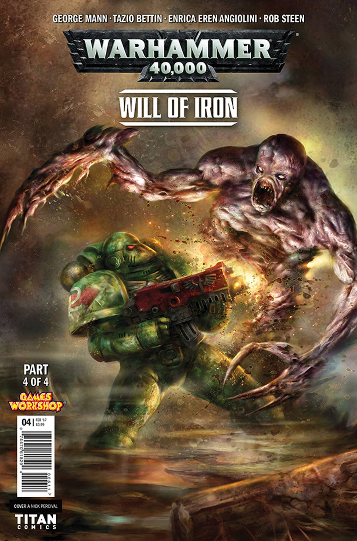 WARHAMMER 40000 WILL OF IRON #4 (OF 4) CVR A PERCIVAL