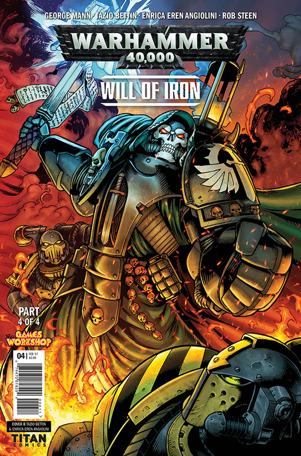 WARHAMMER 40000 WILL OF IRON #4 (OF 4) CVR B BETTIN