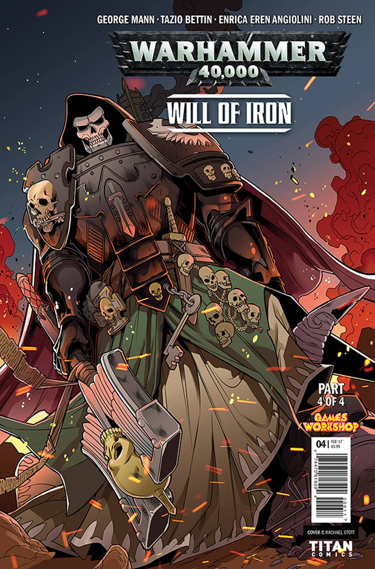 WARHAMMER 40000 WILL OF IRON #4 (OF 4) CVR C STOTT