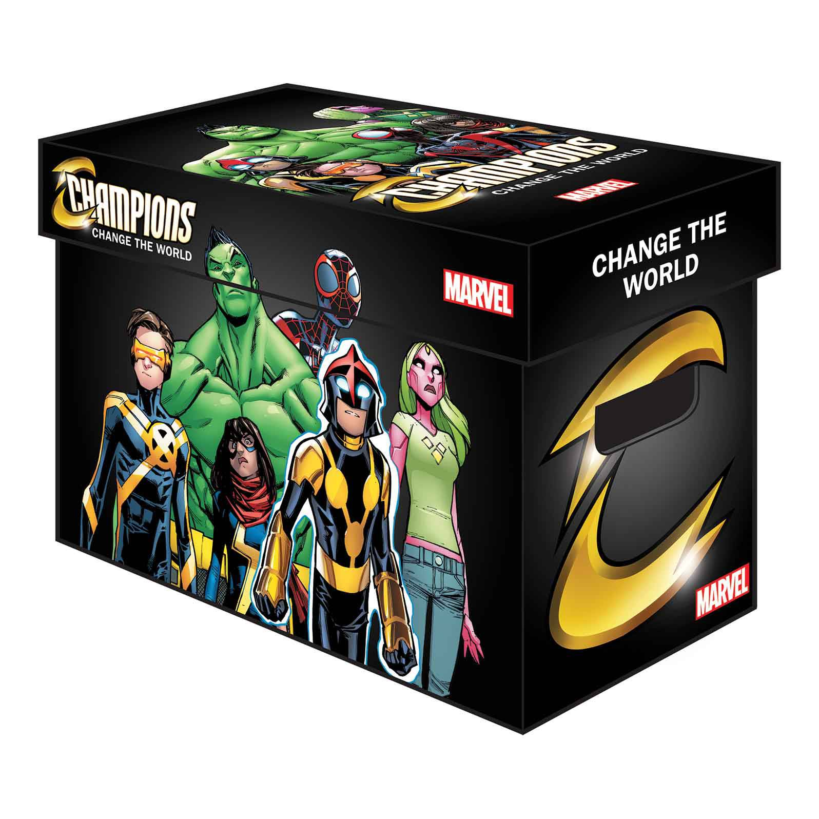 MARVEL GRAPHIC COMIC BOXES CHAMPIONS (BUNDLE OF 5)