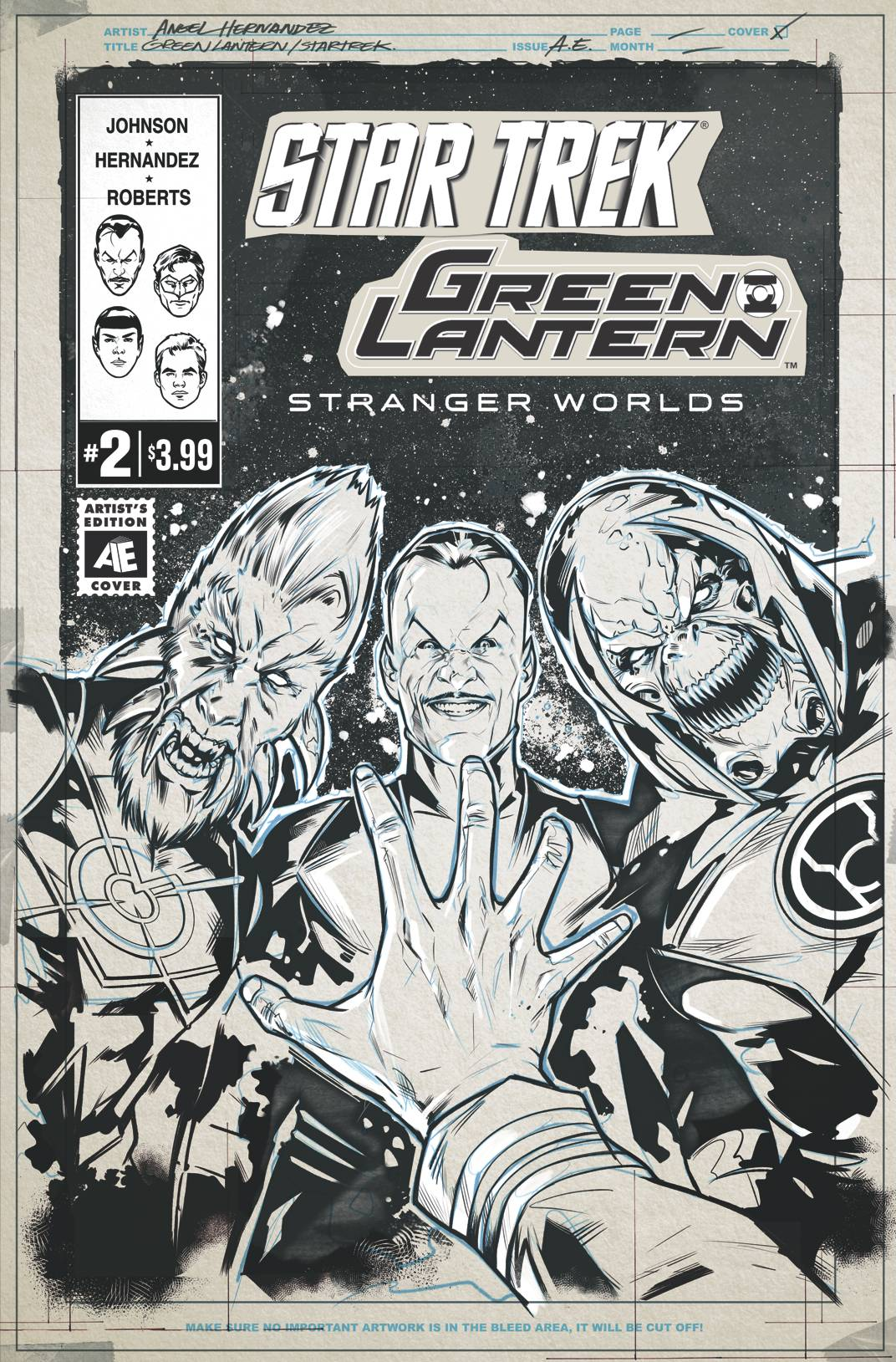 STAR TREK GREEN LANTERN VOL 2 #2 ARTIST ED VAR