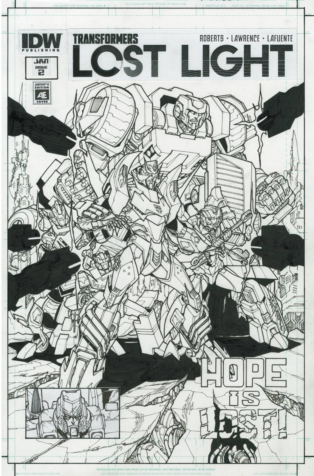 TRANSFORMERS LOST LIGHT #2 ARTIST ED VAR