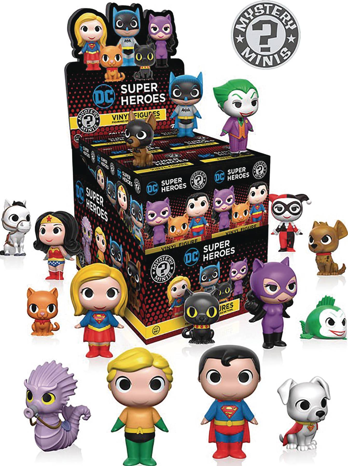 MYSTERY MINIS DC HEROES & PETS SERIES 1 12PC BMB DISP