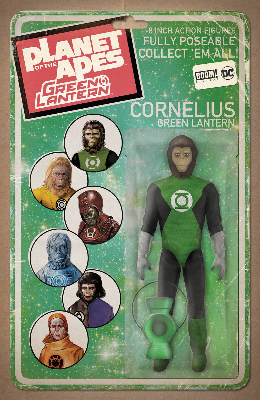 PLANET OF APES GREEN LANTERN #1 UNLOCK ACTION FIGURE VAR