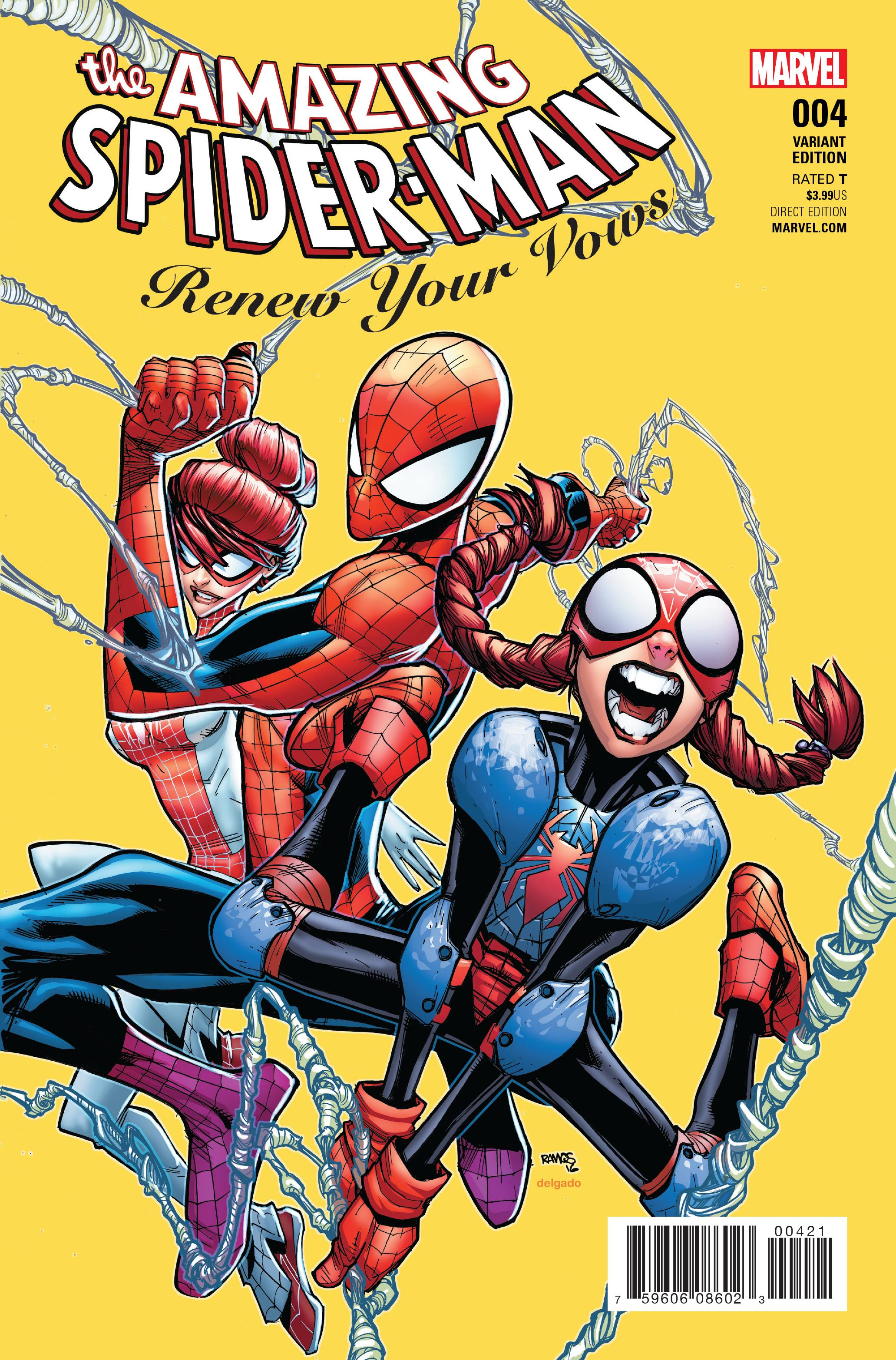 AMAZING SPIDER-MAN RENEW YOUR VOWS #4 RAMOS VAR