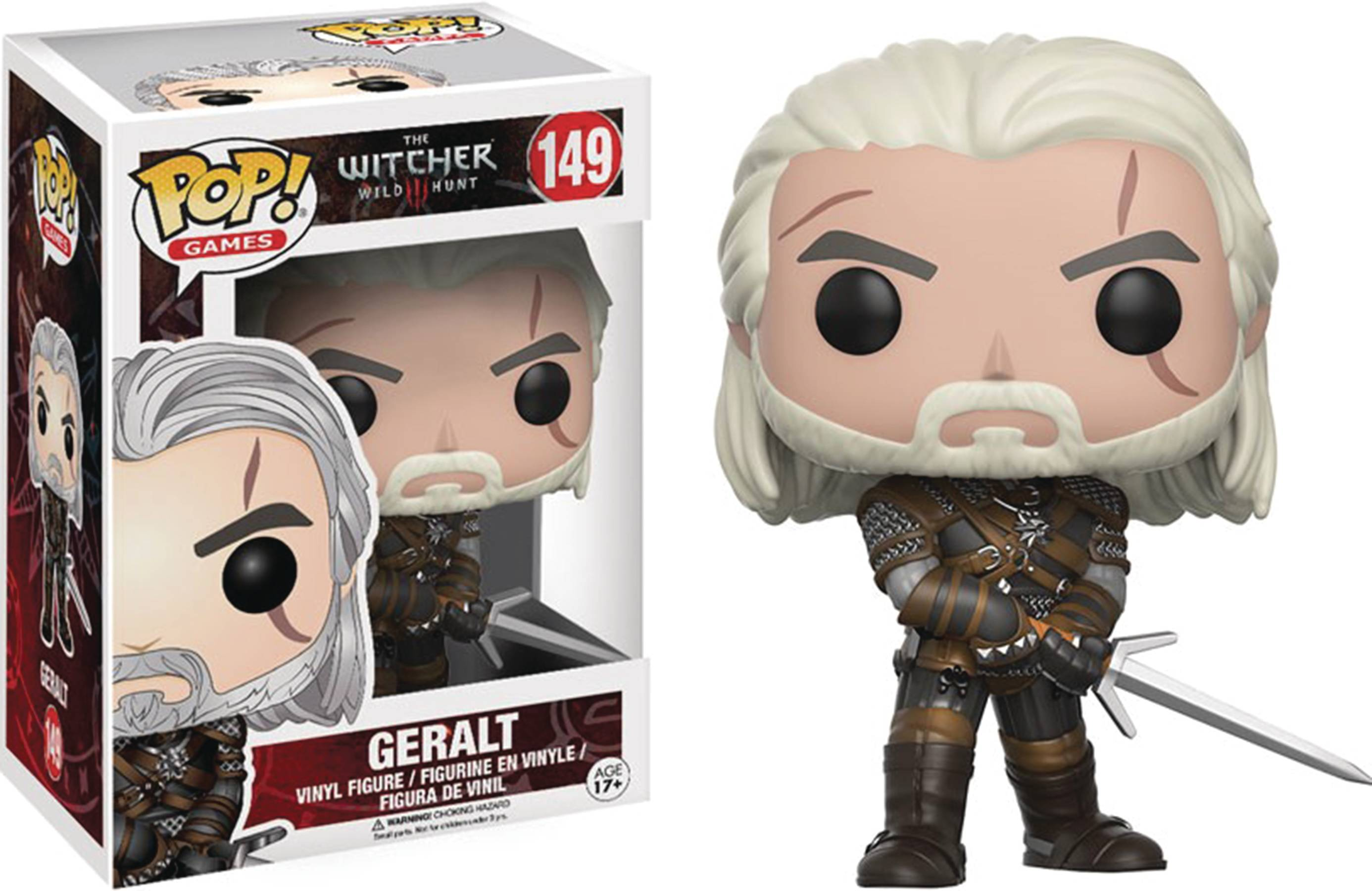 POP WITCHER GERALT VINYL FIG