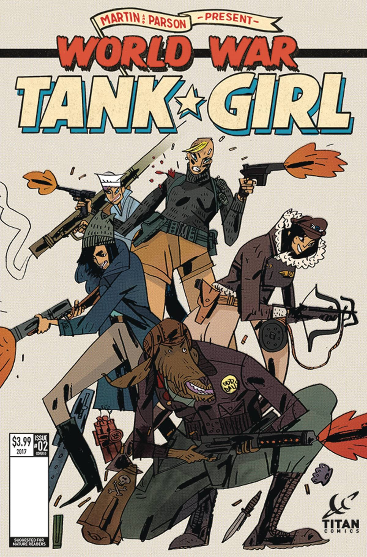 TANK GIRL WORLD WAR TANK GIRL #2 (OF 4) CVR D CADWELL