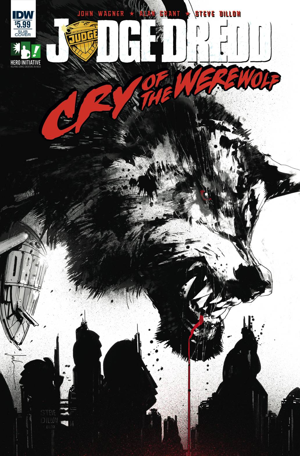 JUDGE DREDD CRY OF THE WEREWOLF SUBSCRIPTION VAR