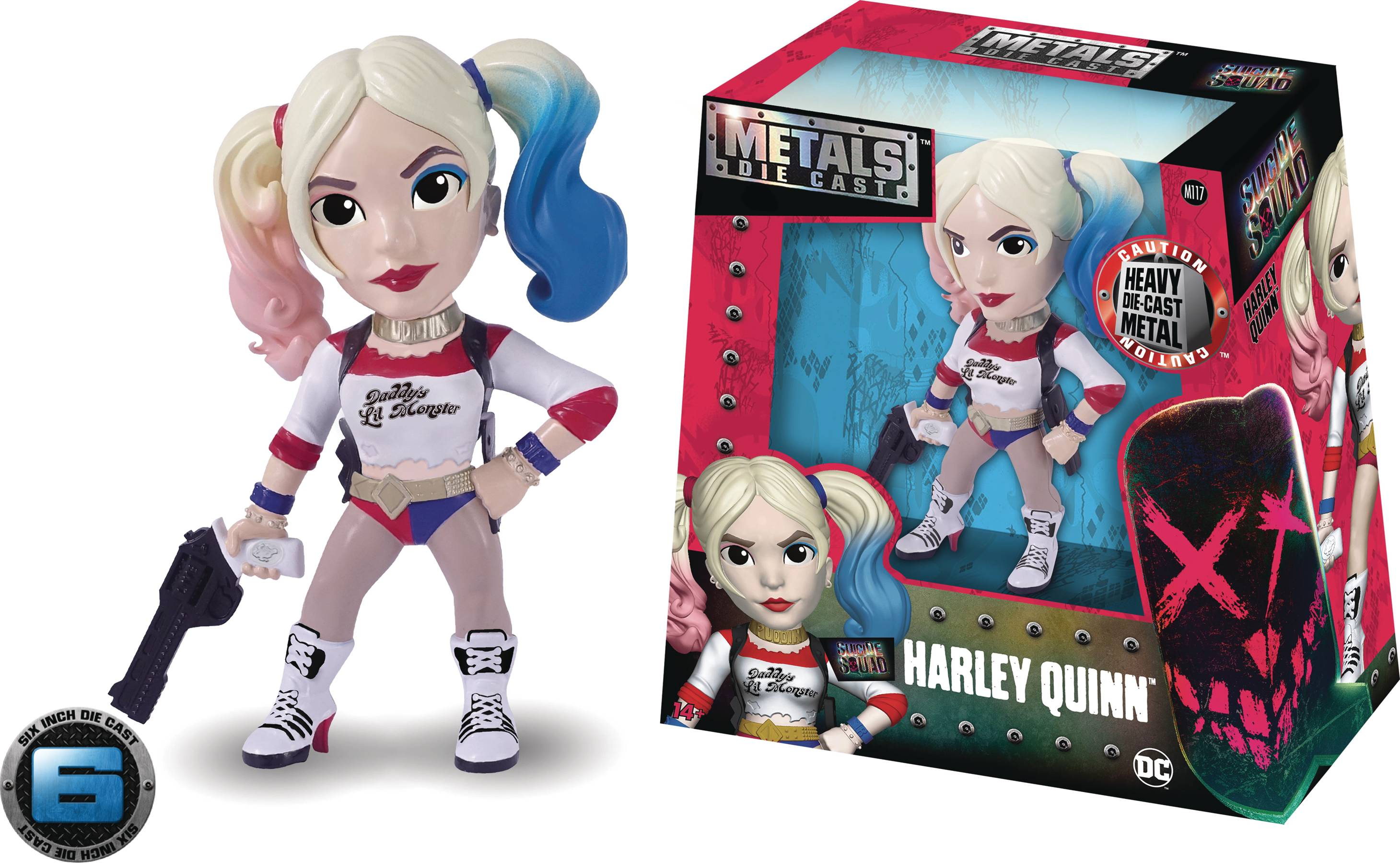 METALS SUICIDE SQUAD HARLEY QUINN 6IN DIE-CAST FIG