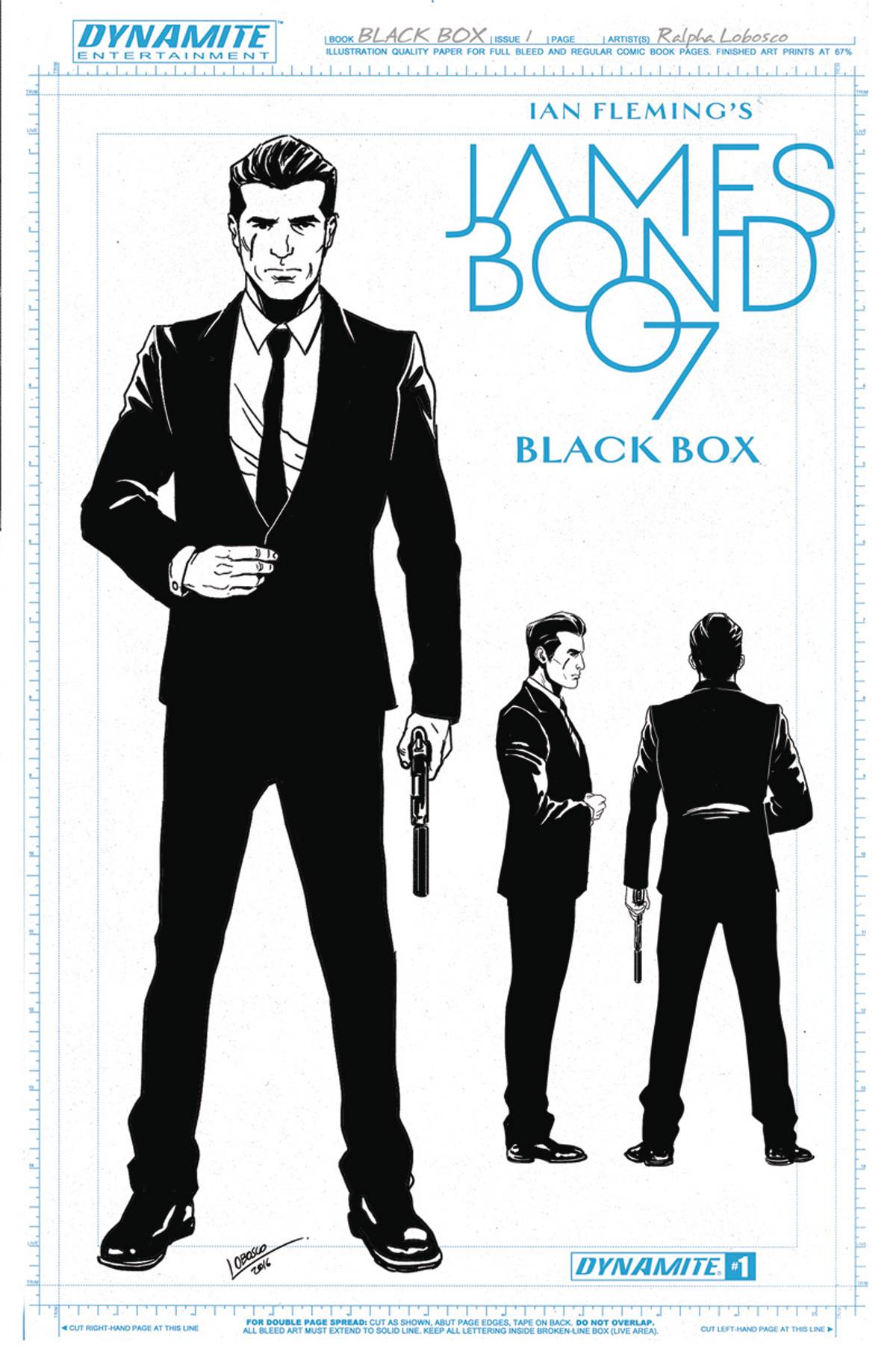 JAMES BOND #1 CVR F 10 COPY LOBOSCO DESIGN INCV