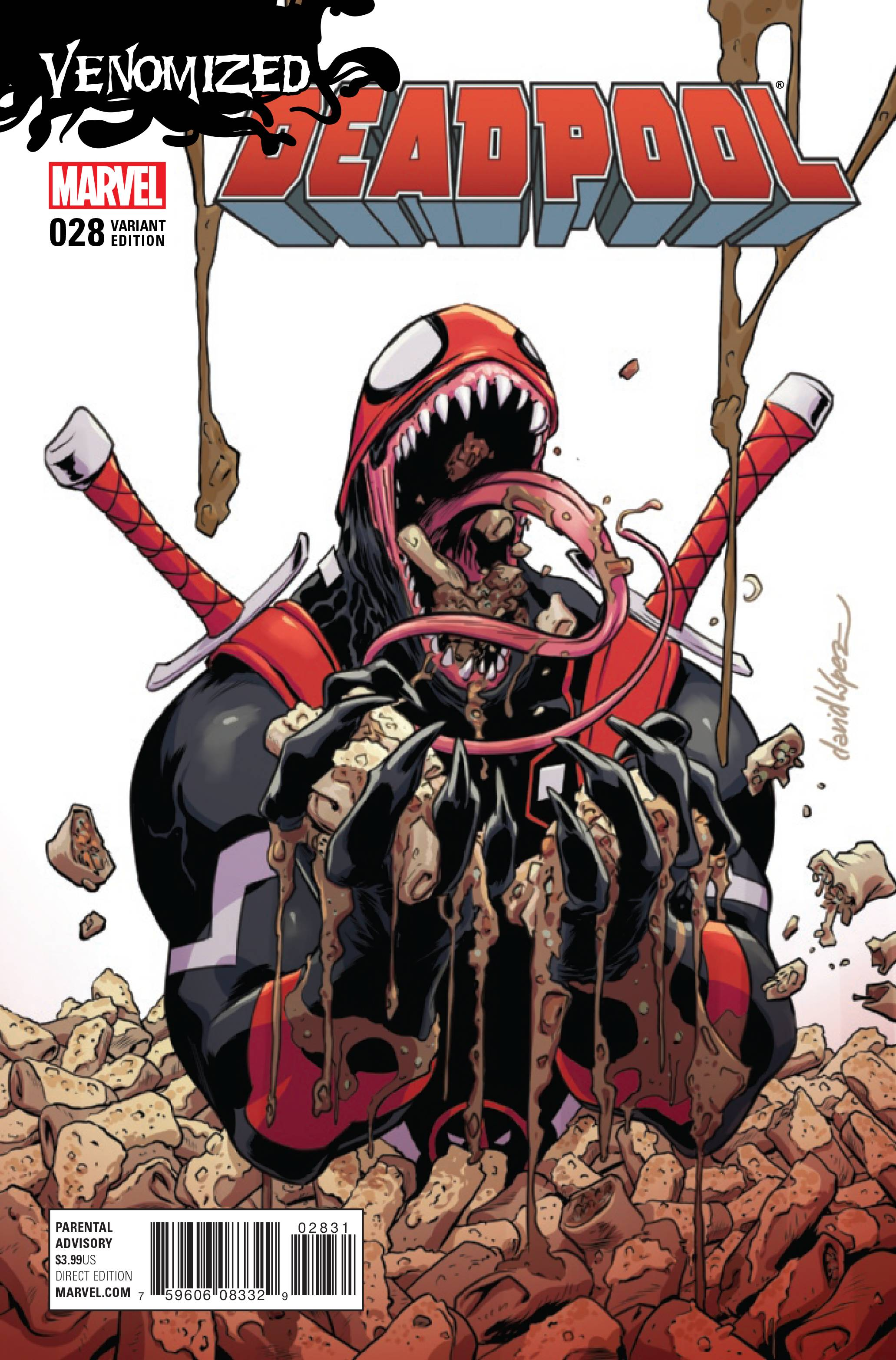 DEADPOOL #28 LOPEZ VENOMIZED VAR