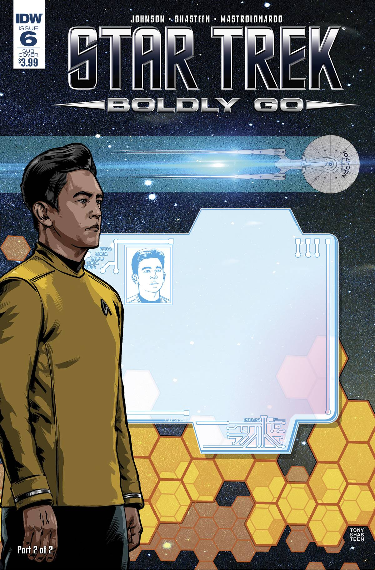 STAR TREK BOLDLY GO #6 SUBSCRIPTION VAR