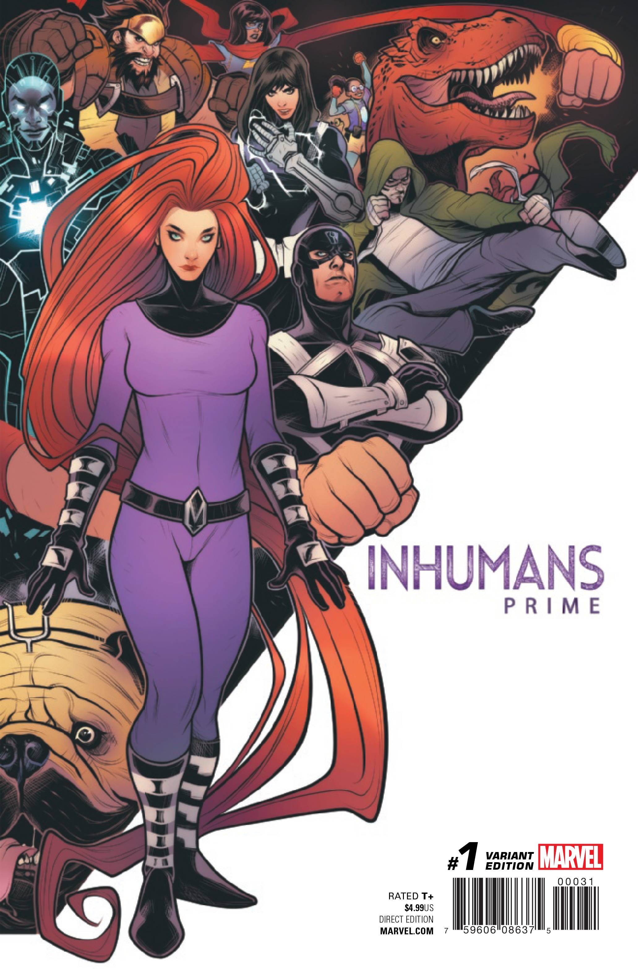 INHUMANS PRIME #1 TORQUE CONNECTING VAR
